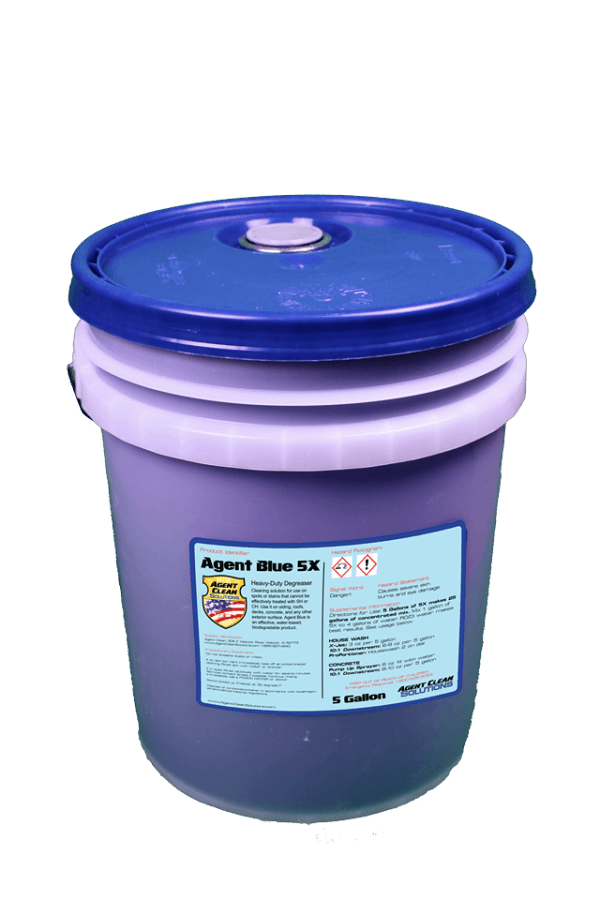 Agent Blue 5x Concentrate - 5 Gallon Bucket